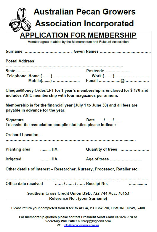 APGA Membership Application Form